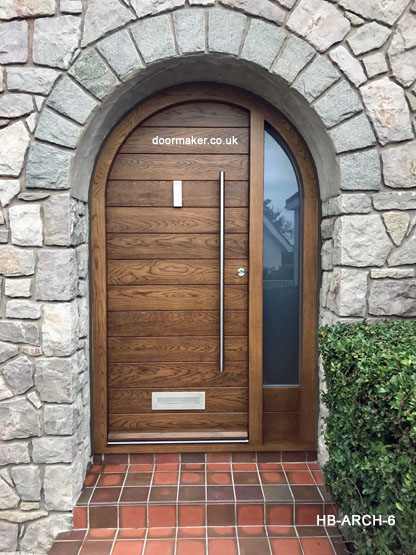 contemporary arched door and frame oak