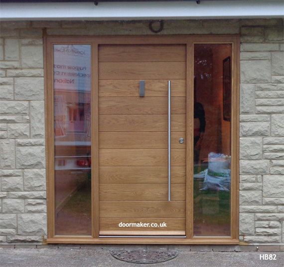 oak contemporary doors